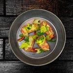 Salmon - Celery / Grapefruit / spiced stock