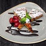 Tarta de Santiago: Mandeltörtchen n. Rezept aus d. Wallfahrtsort Santiago de Compostela gebacken