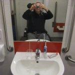 Me at wash basin facilities