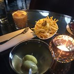 Dirty Martini with Truffle Fries @ the Christopher's Bar
