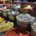 Spices for sale in market across the street