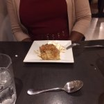 Bread pudding with caramel crumble