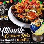 ¿Do you dare?. Enjoy our Corona Rita and claim your free Ricos Nachos!!