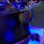 Gabby beach bar at night