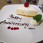 Complimentary dessert in restaraunt
