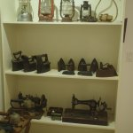Interesting irons and sewing machines.