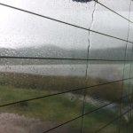 Rain, wet, lake, wet, rain..