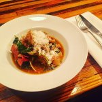 Pig skin, clam and potato stew