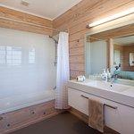Matakana Bathroom with spacious with shower over bath