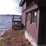 cabins are located right on the water (Lake of the Isles in the St Lawrence River)