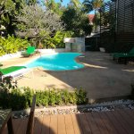 Very nice peaceful place in the center  They very helpful , and will arange everthing for guest
