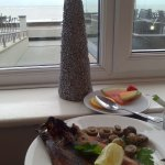 Kippers for breakfast with sea view