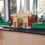 Lego Model of the Menin Gate by a local modeller in the hotel reception.