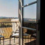 View of Ecluse Vineyards from Our Siena Guest Room Balcony