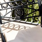 Comfortable Wrought Iron Chairs on Siena's Private Balcony