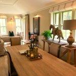 Two bedroom suite Duck Lodge , open fire, open plan , marble ensuite  bathrooms .