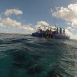 heading back toWoodwinds boat afer a snorkel