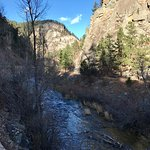 Spearfish Canyon National Scenic Byway near Bridal Veil Falls.