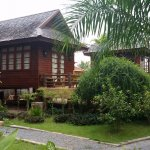 the traditional Thai houses