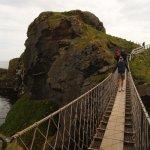 Walking the Narrow Bridge over a hundred foot drop.