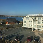 Wonderful hotel with many amenities!  Views from our king bed water view room number #470 in his