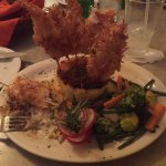 The coconut shrimp entre. Was a bit much for 1 meal but oh so good.