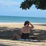 A Quiet beach with sun or shade