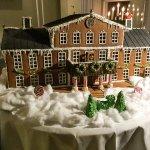 Christmas gingerbread model of Krusenberg