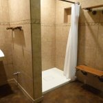 private shower and restroom area