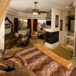 Sedona Safari Rm. with 2 person jetted tub and giant shower.
