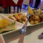 Part of seafood platter