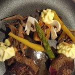 filet de boeuf pommes de terre confites pleurotes sauce chateaubriand