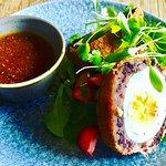 Black Pudding Scotch Egg at the Polgooth Inn