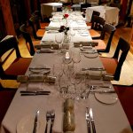 Festive dining for a celebration in the Garden Room