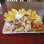 Delicious Caribbean Shrimp plate.