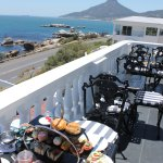 On the balcony at the Leopard bar, luxury Afternoon Tea with a view!