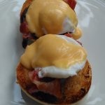 Eggs Benedict at breakfast