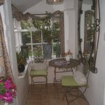 Conservatory attached to the garden room.