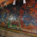 Beautiful wall paintings at Likir Monastery