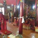 Assembly of monks inside Likir Monastery