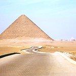 Anfahrt zur Roten Pyramide