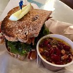 Art Deco sandwich (BLT) and fiesta bean salad