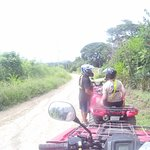 the included ATV Tour into the rainforest