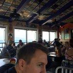 Cheeseburger in Paradise. Overlooking the ocean