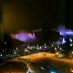 View of the Falls at night from my room