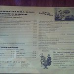 Fred's Diner Menu