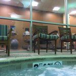 indoor hot tub and machines
