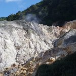 View at the Sulphur Springs, St Lucia