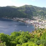 The town of Soufriere, St lucia