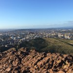 View from the top of Arthur's seat.